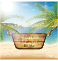 Happy summer holiday card vector