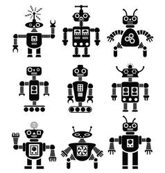 Mechanical robots vector