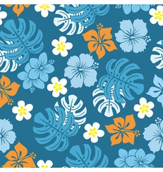 Seamless tropical pattern vector