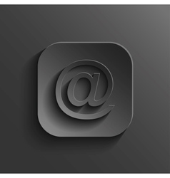 Mail icon - black app button vector