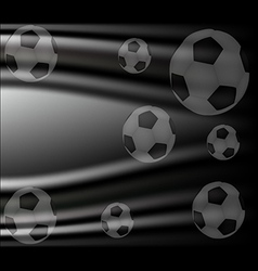 Background with a soccer ball vector