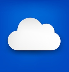 Paper white cloud on blue vector