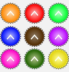Direction arrow up icon sign a set of nine vector