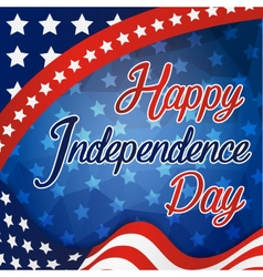 Happy independence day celebration card vector