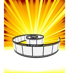 Ray background with film strip vector