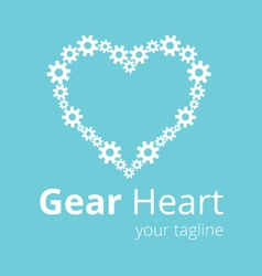 Gear heart logo template vector