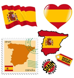 National colours of spain vector