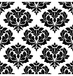 Black and white arabesque seamless pattern vector