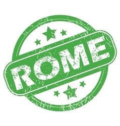 Rome green stamp vector