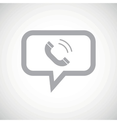 Call grey message icon vector
