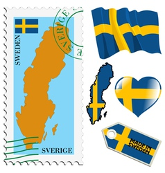 National colours of sweden vector