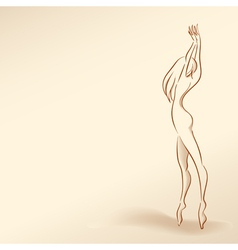 Silhouette of woman in pastel tones01 vector