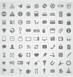 Web icons collection vector