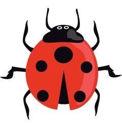 Ladybird on the green grass vector