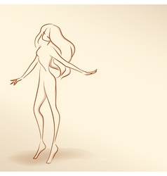 Silhouette of woman in pastel tones02 vector