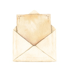 Envelope with a letter vector