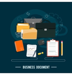 Business documents concept vector