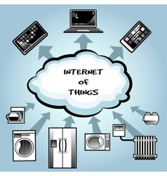 Simple internet of things concept design vector