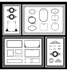 Frame and ornaments vector