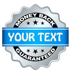 Money back guaranteed label vector