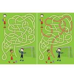 Soccer maze vector