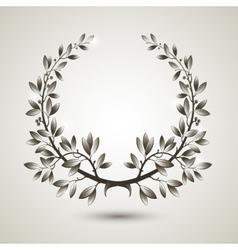 Silver laurel wreath vector