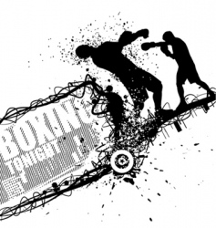 Grunge boxing vector