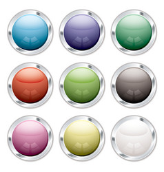 Button candid silver vector