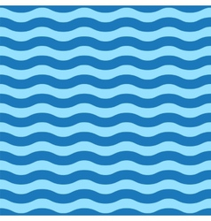 Seamless simple blue wave pattern vector