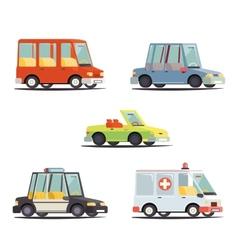 Cartoon transport car vehicle icon design stylish vector