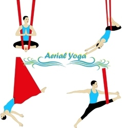 Aerial yoga vector