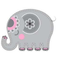 Fabric animal cutout elephant vector