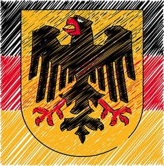 German crest vector