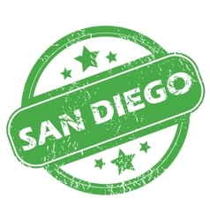 San diego green stamp vector