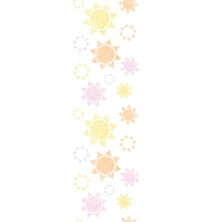 Abstract textile colroful suns geometric vertical vector