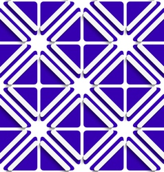Diagonal white frames and deep blue pattern vector