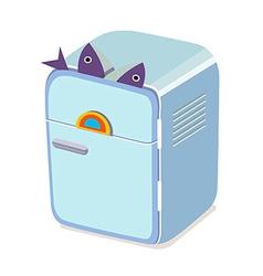 Icon refrigerator vector