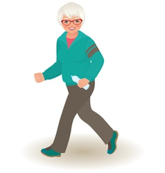 Mature woman doing jogging vector