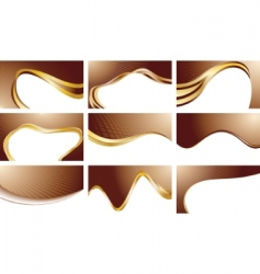 set chocolate backgrounds vector