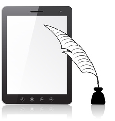 Tablet pc laptop vector