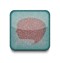 Face chat icon vector