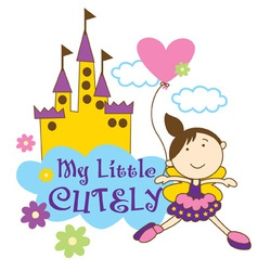 Little girl vector