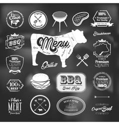 Beef specialty restaurant elements design vector
