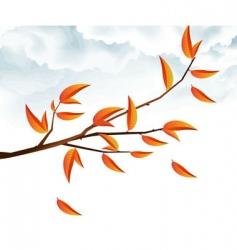 Autumn branch vector