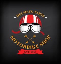 Label motorbike shop vector