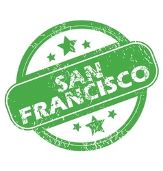 San francisco green stamp vector