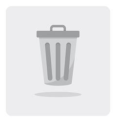 Flat icon trashcan vector
