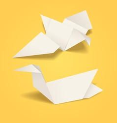Abstract origami birds vector
