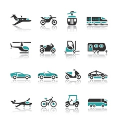 Set of transport icons - two vector