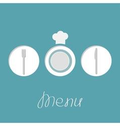 Round menu vector
